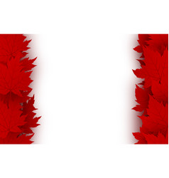 canada day background design of red maple leaves vector image