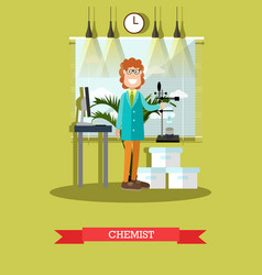 chemist concept in flat style vector image