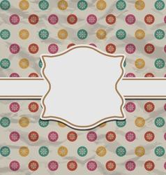 Christmas retro card on snowflakes texture - vector image