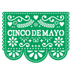 Cinco de mayo papel picado design - mexican vector