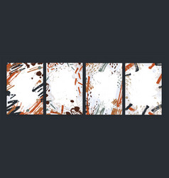 collection of vertical backgrounds with abstract vector image