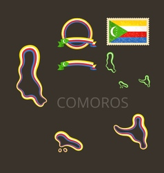 Colors of Comoros vector image