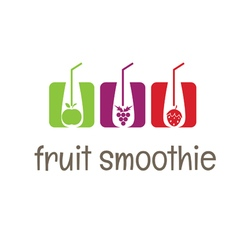Concept smoothies icons vector