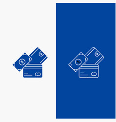 credit card money currency dollar wallet line and vector image