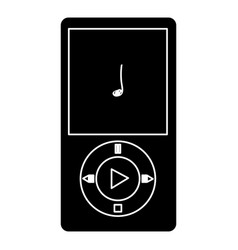 digital music player icon vector image