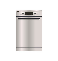 Dishwasher machine isolated icon vector