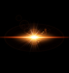 dynamic golden glowing light effect vector image