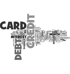 Eliminate your credit card debt forever without vector