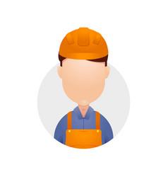 Engineer technician avatar head plain icon vector
