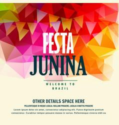 Festa junina brazilian june festival colorful vector