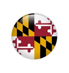 Flag maryland button vector