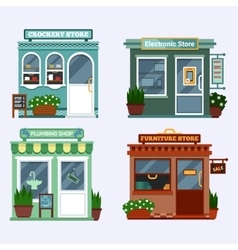 flat of buildings that are vector image