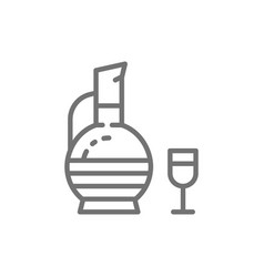 Georgian wine chacha line icon vector