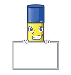 Grinning with board glue stick in the cartoon vector