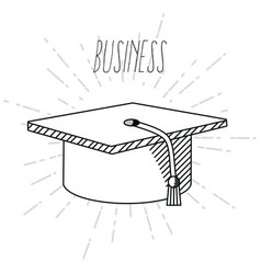 hand draw business school vector image