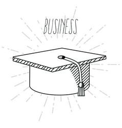 Hand draw business school vector
