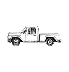 Hand drawn pickup car vector