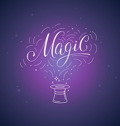 Hand-lettering magic vector