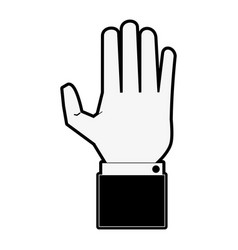 hand with palm open vector image