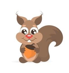 Happy cartoon squirrel vector