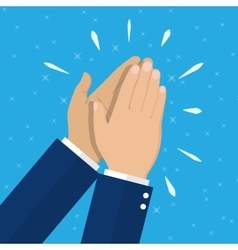 Human hands clapping vector image