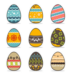 Icon easter egg set vector