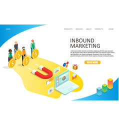 inbound marketing landing page website vector image