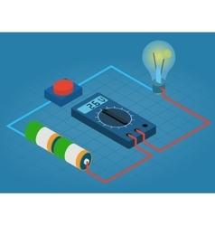 Infographic measurement multimeters voltage vector