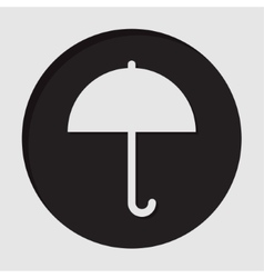 information icon - umbrella vector image