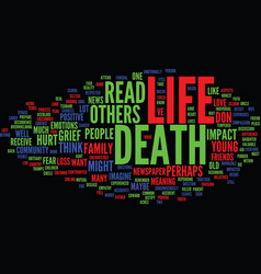 Life trumps death text background word cloud vector