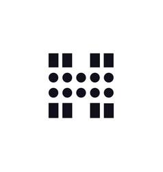 logo letter h black and white vector image