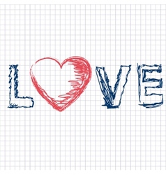 Love - letter vector image