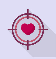love target icon set of great flat icons with vector image