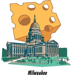 Milwaukee Wisconsin Poster vector image