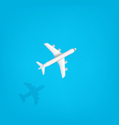 modern aircraft flying under sea travel vector image