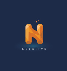 N letter with origami triangles logo creative vector