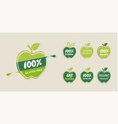 Natural organic product logo stock vector