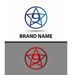Number nine 9 logo icon template elements vector image