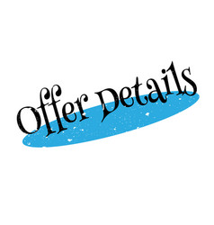 offer details rubber stamp vector image