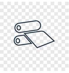 offset concept linear icon isolated on vector image