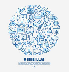 ophthalmology concept in circle vector image
