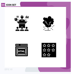 Pictograph set simple solid glyphs business vector