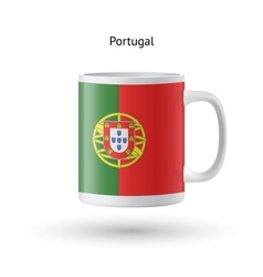 Portugal flag souvenir mug on white background vector