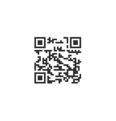 qr code icon flat vector image
