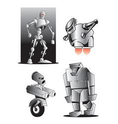 Robot figures vector