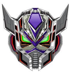 robot head mascot logo design vector image