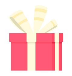 romance gift box icon flat style vector image