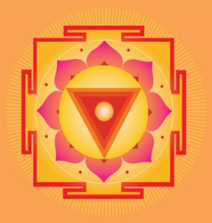 Sacred geometry orange yantra vector