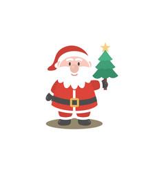 santa clause logo vector image