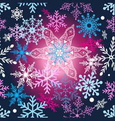 seamless festive new year pattern with colorful vector image
